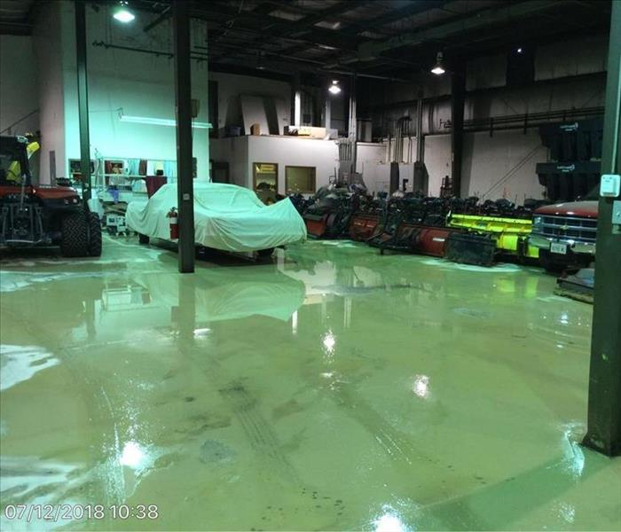 Water Damage to a Local Wauconda Warehouse Before