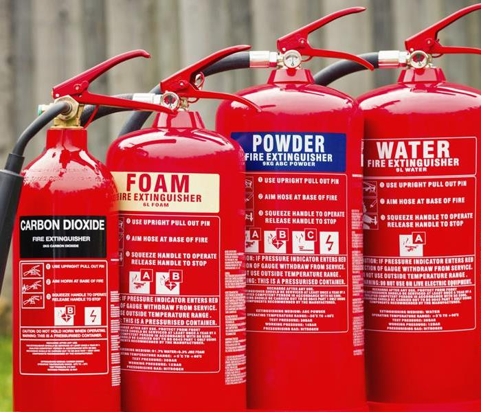 Fire Damage Classes of Fires and Types of Fire Extinguishers