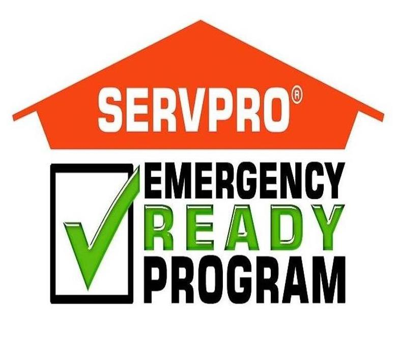 SERVPRO logo with a check mark in a box that says emergency ready program