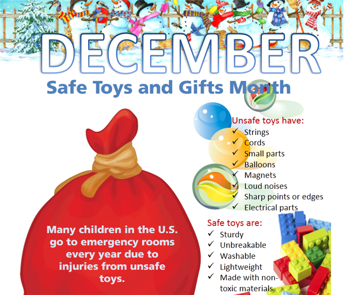 December Is National Safe Toys And Gifts Month Servpro