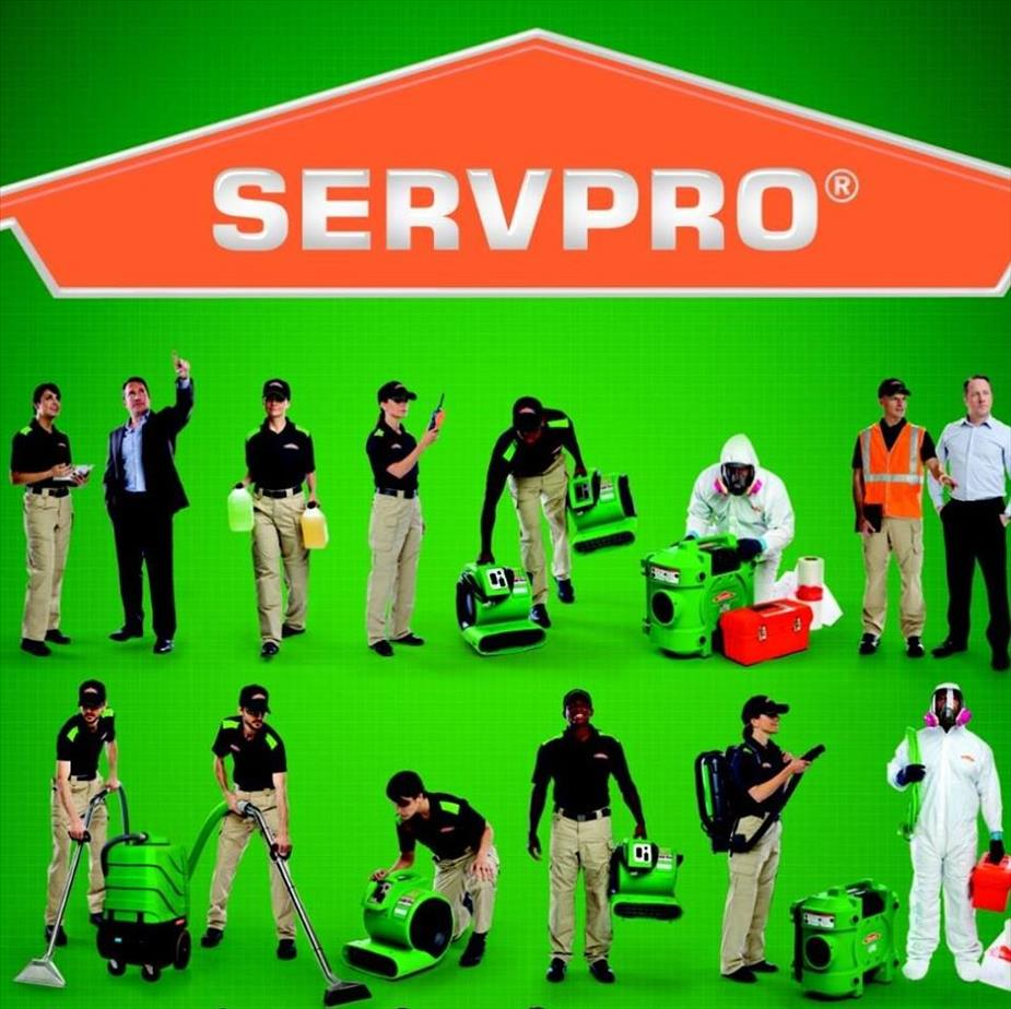 SERVPRO workers with different type of equipment